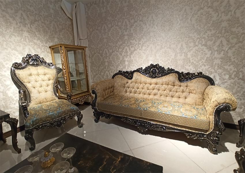 مبل سلطنتی کلاسیک مدل  ملکه