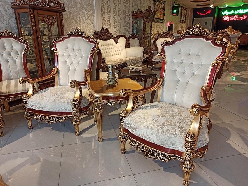 مبل سلطنتی شیک مدل گلایور